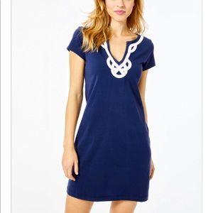 Lilly Pulitzer Brewster Dress True Navy Blue XS